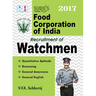 Food Corporation of India ( FCI ) Watchmen Exam Books 2017