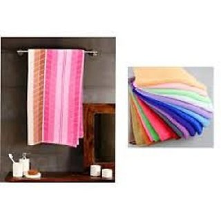 K Decor 1 Bath Towel with 5 face Towel
