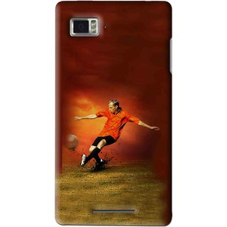 Snooky Printed Football Mania Mobile Back Cover For Lenovo K910 - Multi