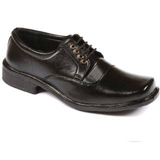 Stylos Men's 6004 Black Synthetic Leather Shoes