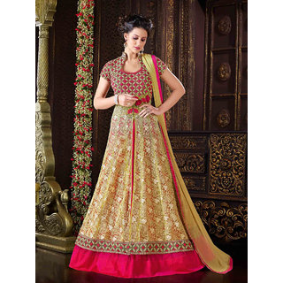 Thankar Attractive Yellow Full Length Net Anarkali suit