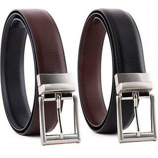 87a06c86d Reversible Black Brown Italian Leather Formal Belt For Men by KSR eTrade