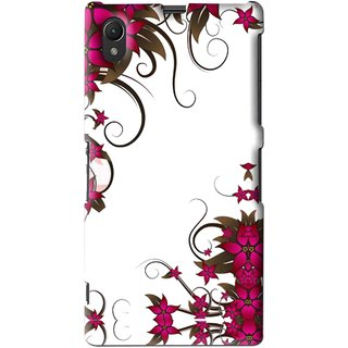 Snooky Printed Flower Creep Mobile Back Cover For Sony Xperia Z1 - Multi