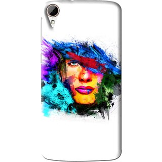 Snooky Printed Dashing Girl Mobile Back Cover For HTC Desire 828 - Multi