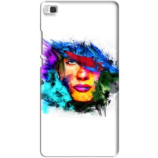 Snooky Printed Dashing Girl Mobile Back Cover For Huawei Ascend P8 - Multi