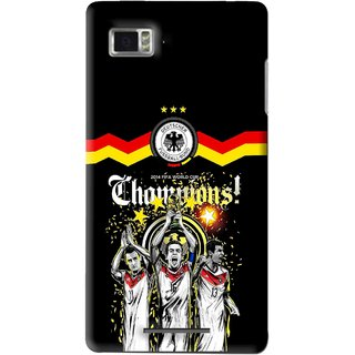 Snooky Printed Champions Mobile Back Cover For Lenovo K910 - Multi