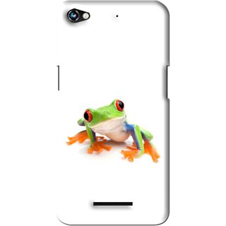 Snooky Printed Frog Mobile Back Cover For Micromax Canvas Hue 2 - Multi