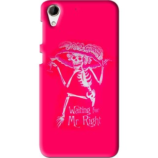 Snooky Printed Mr.Right Mobile Back Cover For HTC Desire 728 - Multi