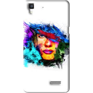 Snooky Printed Dashing Girl Mobile Back Cover For Oppo R7 - Multi