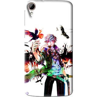 Snooky Printed Angry Man Mobile Back Cover For HTC Desire 828 - Multi