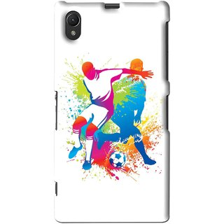 Snooky Printed Footbal Mania Mobile Back Cover For Sony Xperia Z1 - Multi