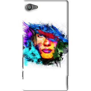 Snooky Printed Dashing Girl Mobile Back Cover For Sony Xperia Z5 Compact - Multi