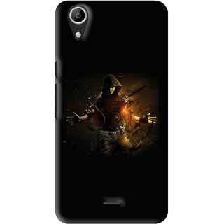 Snooky Printed Dancing Boy Mobile Back Cover For Micromax Bolt Q338 - Multi