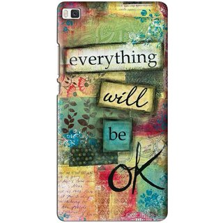 Snooky Printed Will Ok Mobile Back Cover For Huawei Ascend P8 - Multi