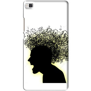 Snooky Printed Music Fond Mobile Back Cover For Huawei Ascend P8 - Multi