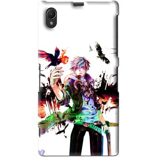 Snooky Printed Angry Man Mobile Back Cover For Sony Xperia Z1 - Multi