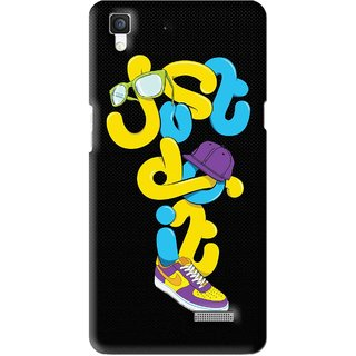 Snooky Printed Just Do it Mobile Back Cover For Oppo R7 - Multi