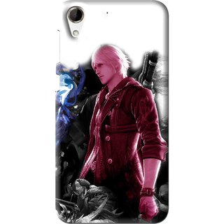 Snooky Printed Fighter Boy Mobile Back Cover For HTC Desire 728 - Multi