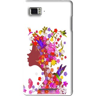 Snooky Printed Girl Beauty Mobile Back Cover For Lenovo K910 - Multi