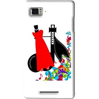 Snooky Printed Fashion Mobile Back Cover For Lenovo K910 - Multi