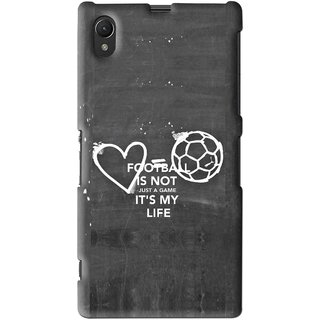 Snooky Printed Football Life Mobile Back Cover For Sony Xperia Z1 - Multi