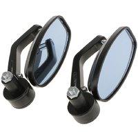 AutoStark Bar End Mirror Rear View Mirror Oval For Yamaha Saluto
