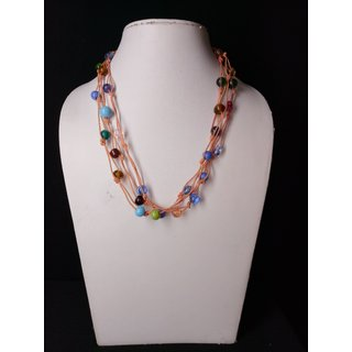 Necklace in multicolour beaded set