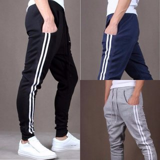 ToYouth Pack of 3 Navy Blue Black  Grey Cotton Blend Stylish Sports Track Pant for Men