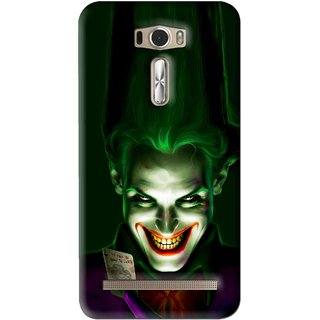 Snooky Printed Loughing Joker Mobile Back Cover For Asus Zenfone 2 Laser ZE601KL - Green