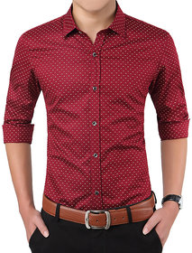 Gladiator Products Casual Dotted Shirt Slim Fit
