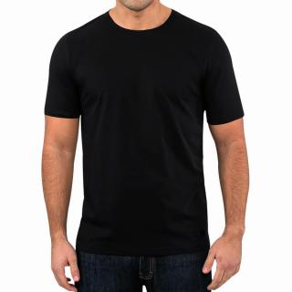 Mens Black Round Neck T-shirt