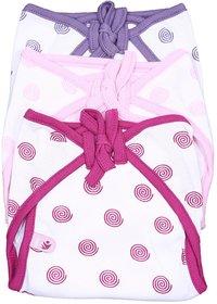 KIDZO NEW BORN BABY SOFT COTTON CLOTH PRINTED NAPPIES 12 PCS SET SIZE 0-6month
