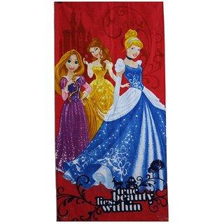 Sassoon Disney Princess Cotton Soft Kids Bath Towel Size 60cm x 120cm - Multicolor