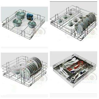 ss kitchen basket full set D17 W20 ( 6 pices )