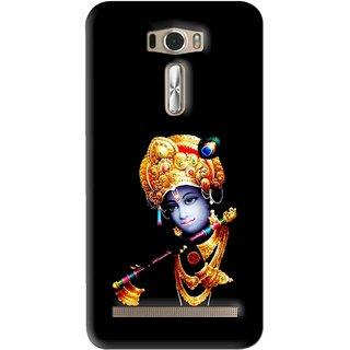 Snooky Printed God Krishna Mobile Back Cover For Asus Zenfone 2 Laser ZE601KL - Black