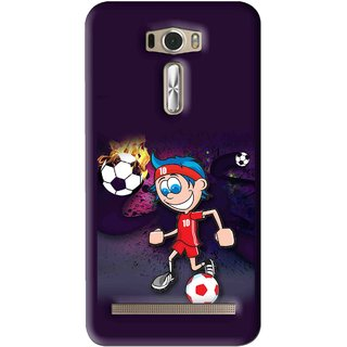 Snooky Printed My Game Mobile Back Cover For Asus Zenfone 2 Laser ZE601KL - Puple