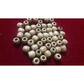 Wood beads with hole, for creative jewellery making , kids crafts, 200 nos,12mm size