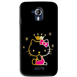 Snooky Printed Princess Kitty Mobile Back Cover For Micromax Canvas Magnus A117 - Multi