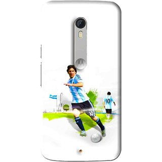 Snooky Printed Football Mania Mobile Back Cover For Motorola Moto X Play - White