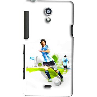 Snooky Printed Football Mania Mobile Back Cover For SONY XPERIA T - White