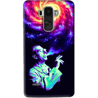 Snooky Printed Universe Mobile Back Cover For Lg G4 Stylus - Multi