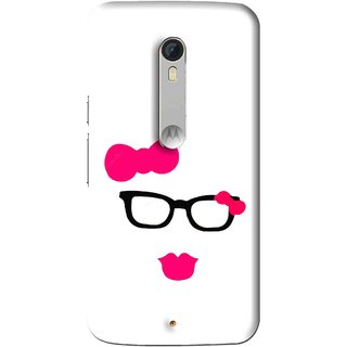 Snooky Printed Pinky Girl Mobile Back Cover For Motorola Moto X Play - Multi