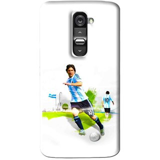 Snooky Printed Football Mania Mobile Back Cover For Lg G2 - White