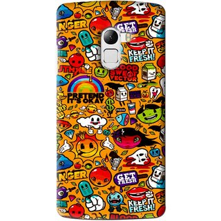 Snooky Printed Freaky Print Mobile Back Cover For Lenovo K4 Note - Yellow