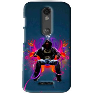 Snooky Printed Live In Attitude Mobile Back Cover For Moto X Force - Blue