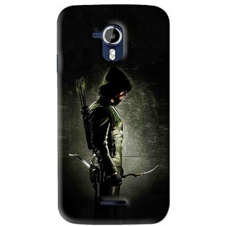Snooky Printed Hunting Man Mobile Back Cover For Micromax Canvas Magnus A117 - Black
