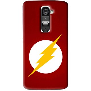 Snooky Printed High Voltage Mobile Back Cover For Lg G2 - Red