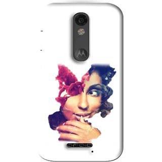 Snooky Printed Vintage Girl Mobile Back Cover For Moto X Force - Multi