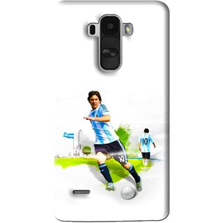 Snooky Printed Football Mania Mobile Back Cover For Lg G4 Stylus - White