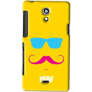 Snooky Printed Yeah Mobile Back Cover For SONY XPERIA T - Yellow